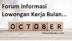 Forum Informasi Bulan Oktober 2018 - Lowongan Kerja SMA/SMK Cikarang Bekasi