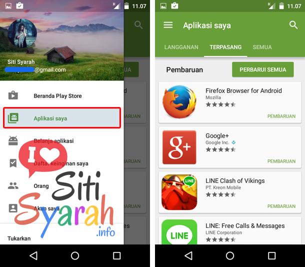 cara update aplikasi Android