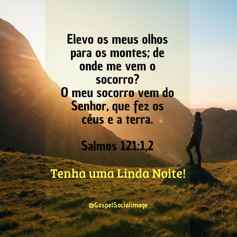 Imagem Salmos 121 de Boa Noite