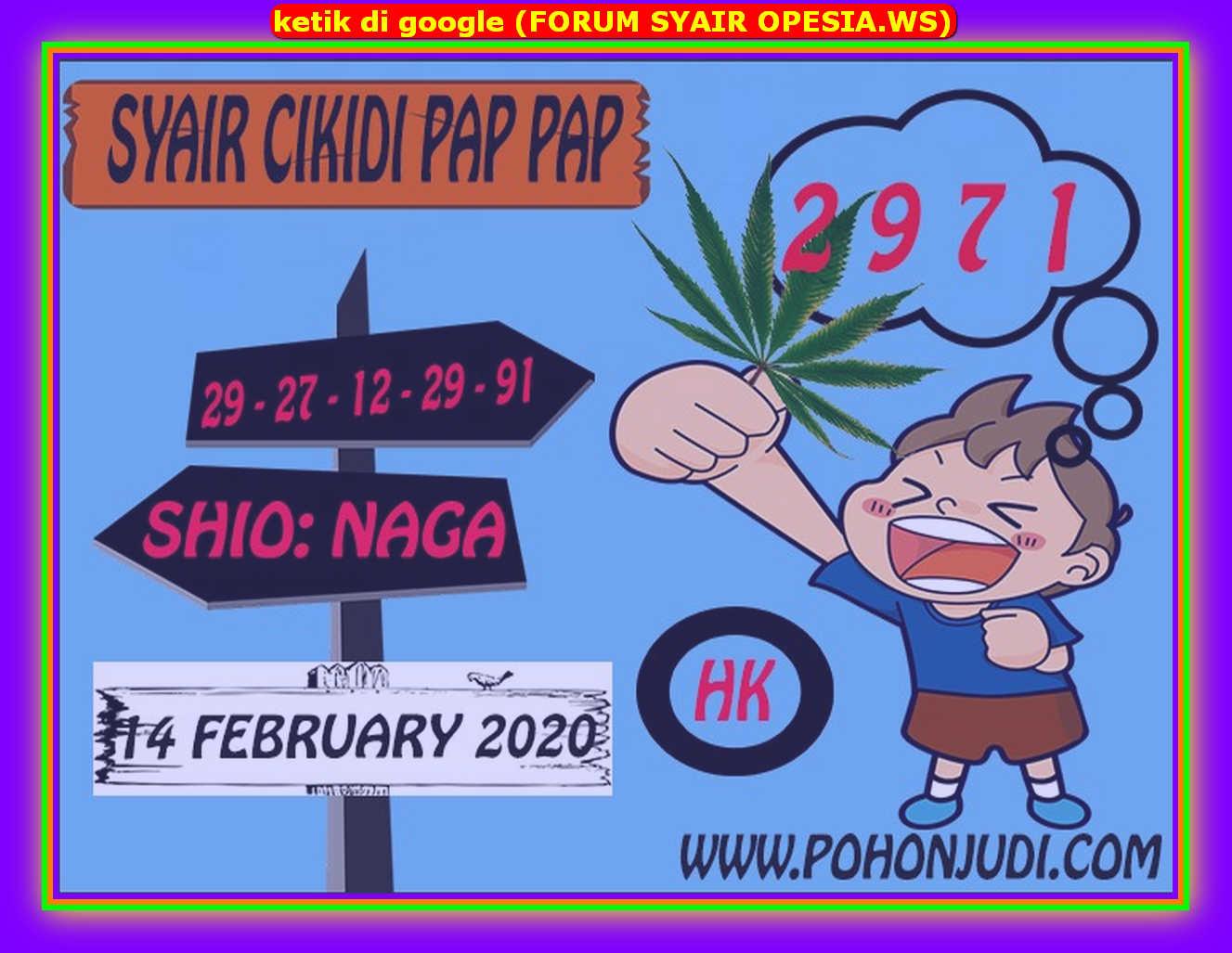 Kode syair Hongkong Jumat 14 Februari 2020 143