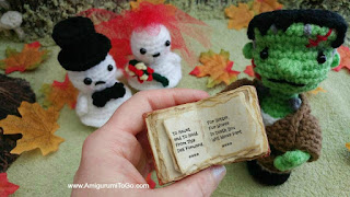 crochet wedding ghost and frankenstein's monster