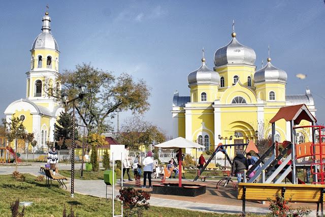 Parcul din centrul orașului Comrat - capitala Găgăuziei-blog FOTO-IDEEA