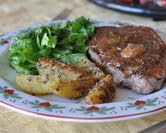 Lavender Steak & Lavender Potatoes
