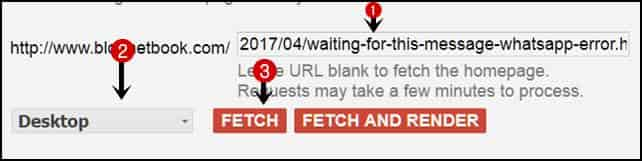 Fatech as google submit url for indexing