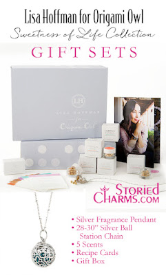 LISA HOFFMAN FOR ORIGAMI OWL SWEETNESS OF LIFE FRAGRANCE BEADS WITH SILVER NECKLACE GIFT SET available at StoriedCharms.com