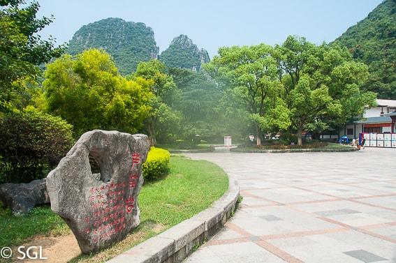 Exterior cueva de la flauta de caña. Guilin. De Guilin a Hangzhou