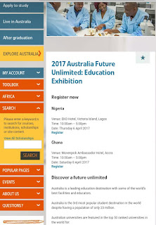 health science qualification from Australia: Attend the 2017 Australia Future Unlimited Education Exhibition in Lagos on Thursday 6 April And 8 April in Ghana