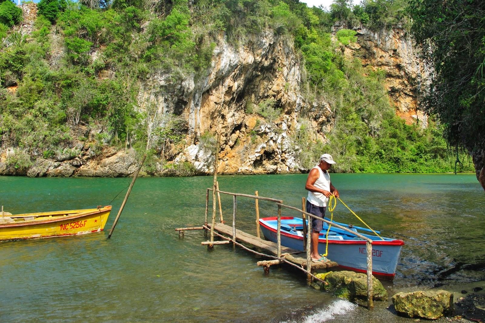 Boca de Yumurí, um cânion em Cuba.