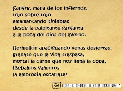poemas de vampiros goticos