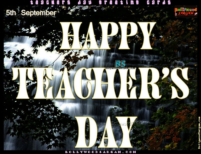Happy Teachers day slogan from Student