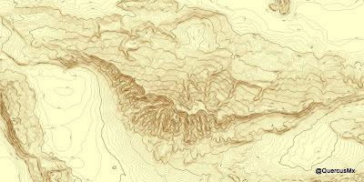 Cerro Viejo - Separación de 10m entre curvas de nivel