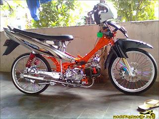 Keren Modifikasi Motor Jupiter Z