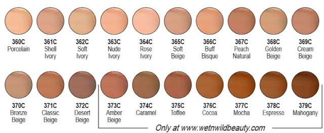 wet n wild photofocus foundation shades