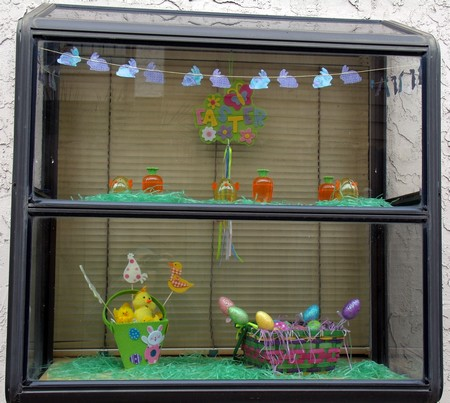 Yvonne's Blog: Garden Window - Easter Decoration