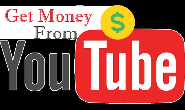 Hasil gambar untuk logo youtube dengan uang