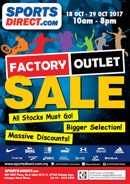 SPORTSDIRECT.com Malaysia Factory Outlet Clearance Sale Discount Offer Promo