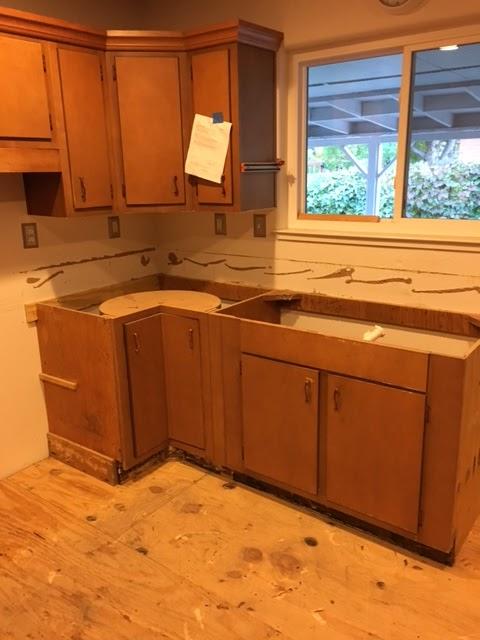 demoing a kitchen