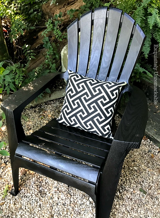 Black Painted Adirondack Chair DIY  Exquisitely Unremarkable