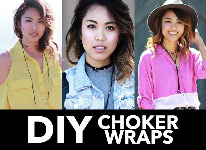DIY choker wrap, DIY choker necklace, choker necklace DIY