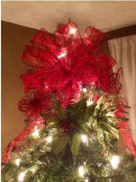 pasos para hacer un moño para poner en la punta del arbol de navidad