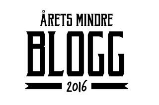Nominerad till Årets Mindre Blogg 2016