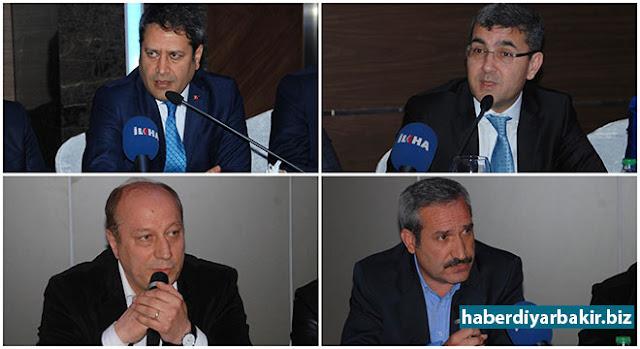 DİYARBAKIR-Bir dizi temaslarda bulunmak üzere Diyarbakır'a gelen Avrupa Birliği Bakan Yardımcısı Ali Şahin, sivil toplum kuruluşu ve kanaat önderleriyle buluştu.