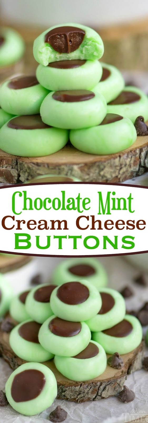 ★★★★★ 10 Review : CHOCOLATE MINT CREAM CHEESE BUTTONS #cookies #easycookirecipes #cookierecipes #chocolate #chocolatechip #mint #cream #buttons
