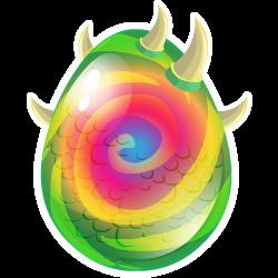 Das Erscheinen des Ei Chamäleon-Drache