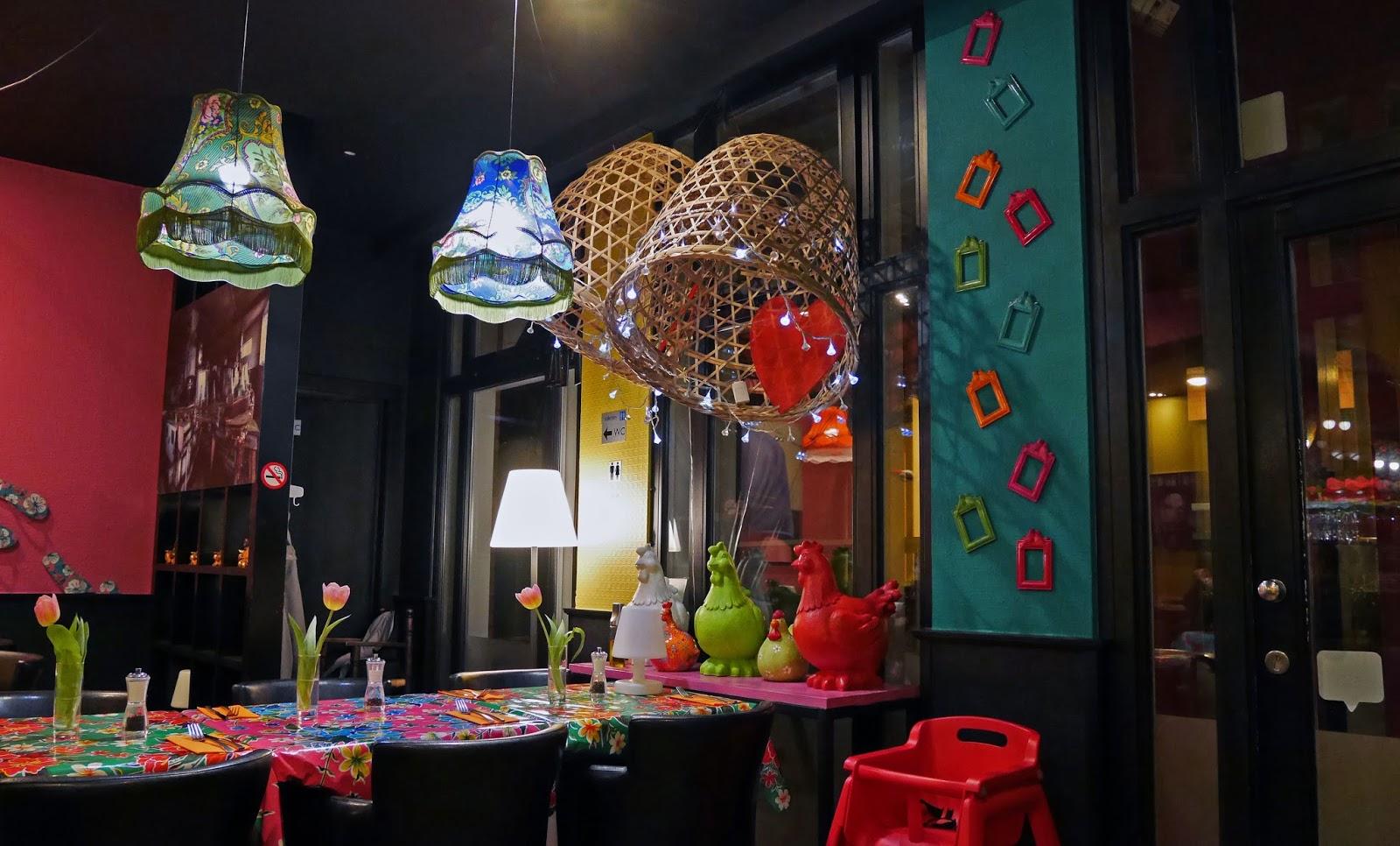 Inside Arthie's Restaurant in Bruges