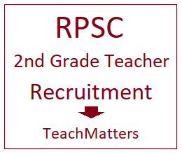 image : RPSC Sr. Teacher Grade II Recruitment 2018 @ TeachMatters