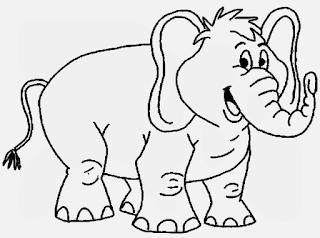 Gambar Sketsa Mewarnai Gajah Sebagai Media Belajar Anak 20169