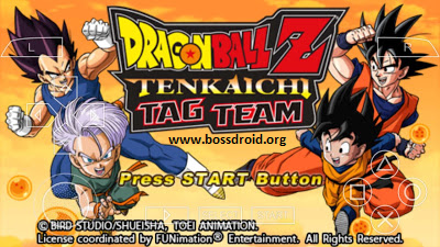 Download Dragon Ball Z Tenkaichi Tag Team PPSSPP ISO CSO Android High Compress