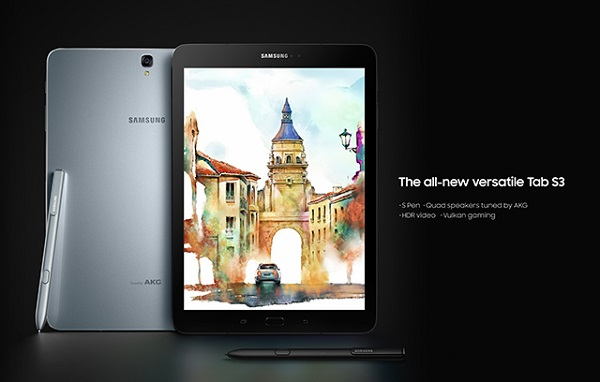 MWC 2017: SAMSUNG Galaxy Tab S3 announced with 9.7-inch Super AMOLED screen and S Pen