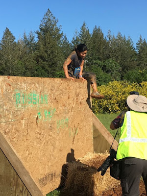 Russian River Mud Run wall obstacle