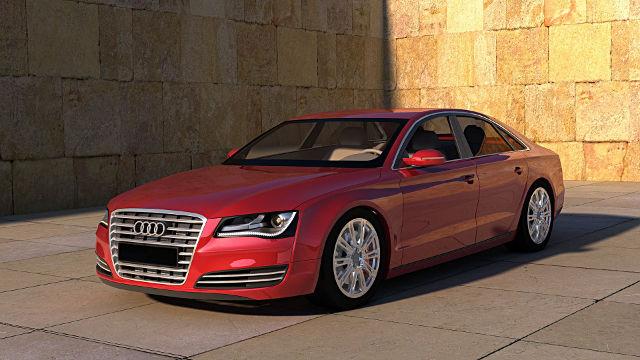 Audi A8 Rouge - Fond d'écran en Full HD