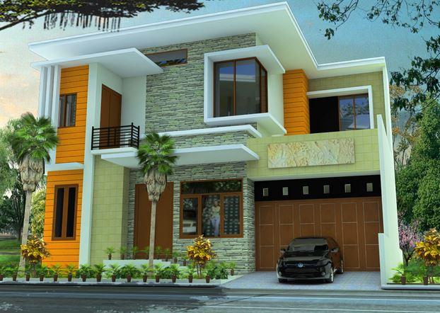 Contoh Rumah Mewah Minimalis 2 Lantai Desain Modern