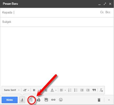 cara mengirim berkas / file ms word, excel pdf melalui email google.