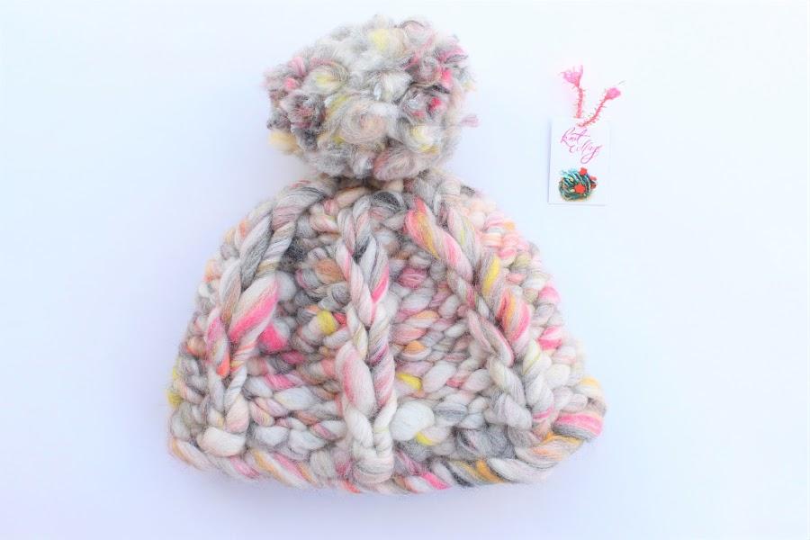 knit collage; take a chance; bulky yarn; wool; hat; winter