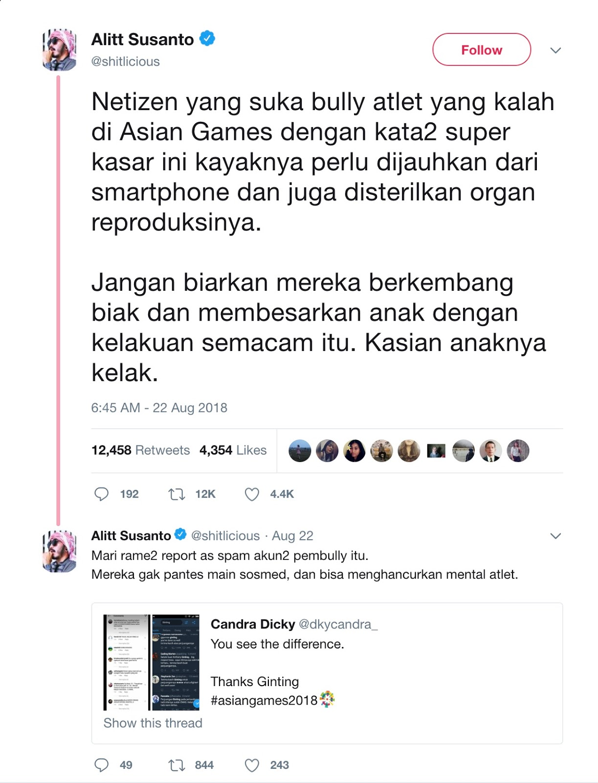 Julidnya Netizen di Asian Games 2018 - shitlicious