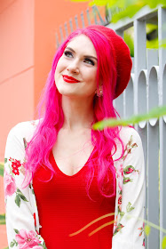 Cute Red Beret Outfit