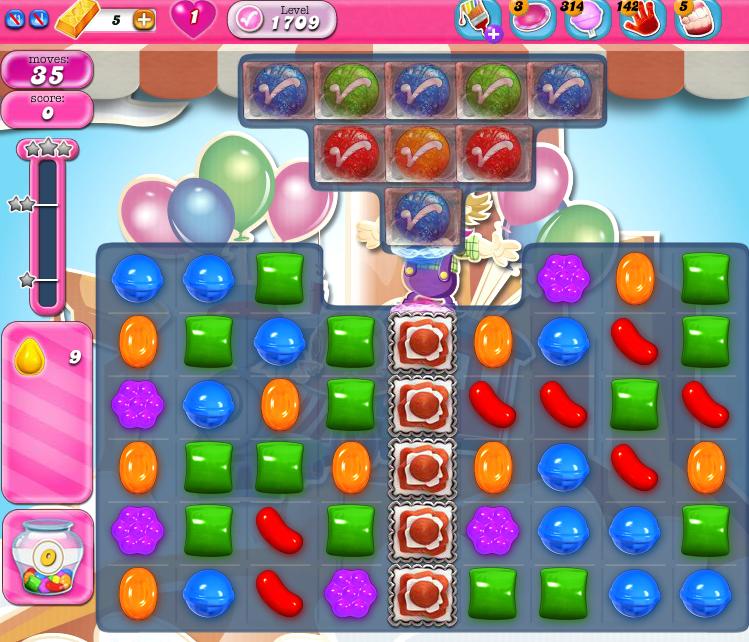 Candy Crush Saga 1709