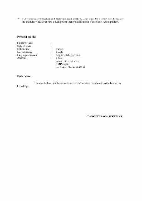 SAP FICO Fresher Resume 2