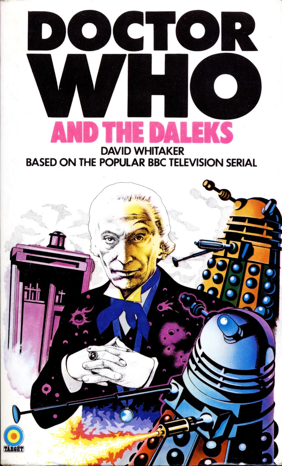 Book Covering Contact Target : Howeswho the reprint conundrum target doctor who