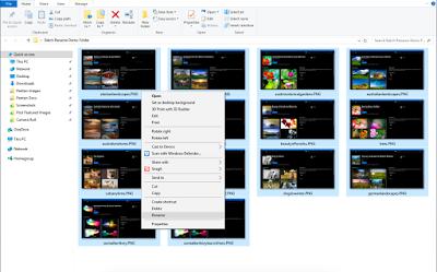 cara cepat merename banyak file sekaligus