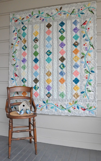 "All A Flutter Quilt Free Pattern Designed by Alex Anderson ,Featuring the ""Flutter"" collection for RJR Fabrics"
