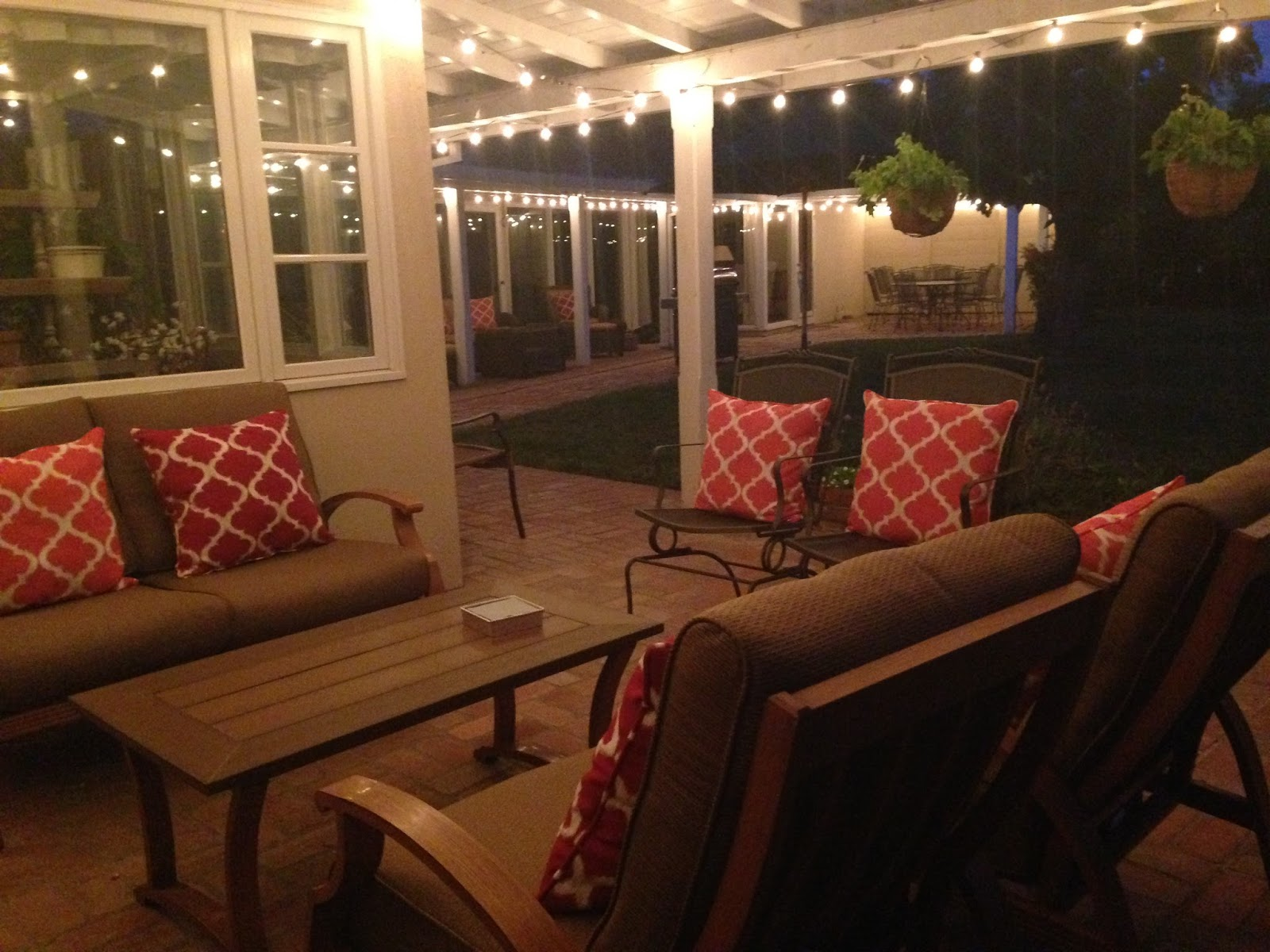 In One Afternoon My Son And Husband Strung 200 Feet Of Cafe Lights On Our  Back Patio. Iu0027m Amazed At Not Only How Well They Illuminate, But The Lights  Add ...