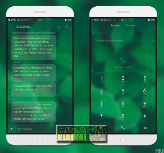Screenshoot MIUI Theme Greenest Update Mtz V3.0 For Xiaomi