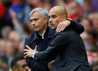 Jose Mourinho, Pep Guardiola, Man.United 1-2 Man.City 2016