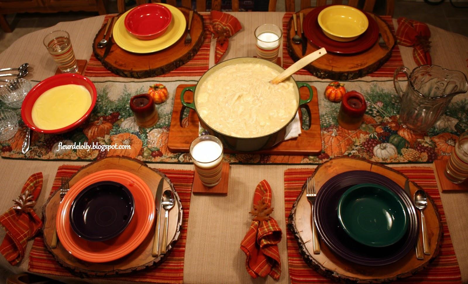 Fleur De Lolly Fall Table Setting Amp Chicken And Dumplings