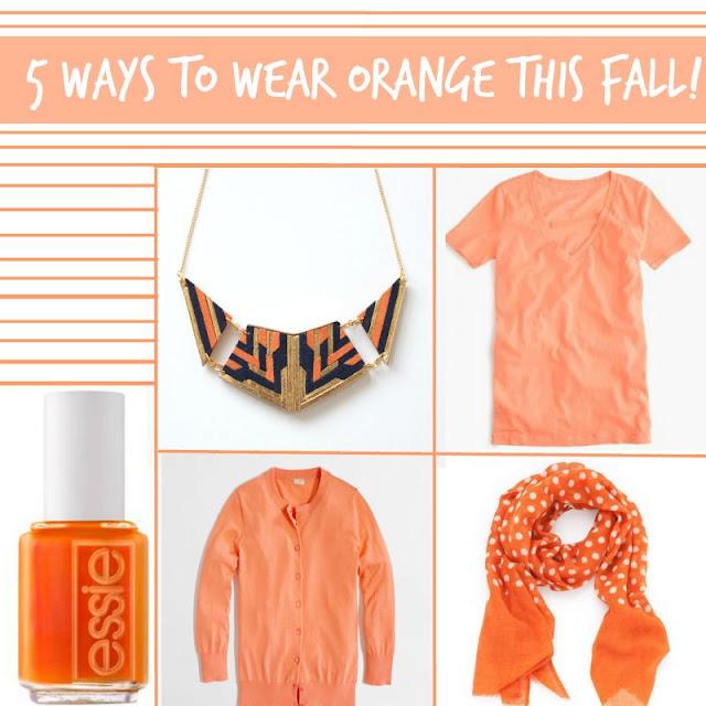 5 Ways to Wear Orange This Fall!  via  www.productreviewmom.com